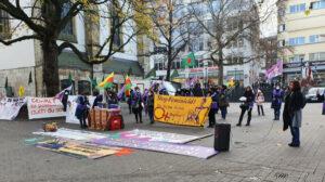 Women stage '100 reasons campaign' demos in Essen and Frankfurt
