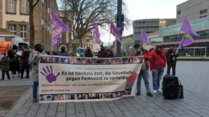 """Rally for the """"100 Reasons"""" campaign in Duisburg"""